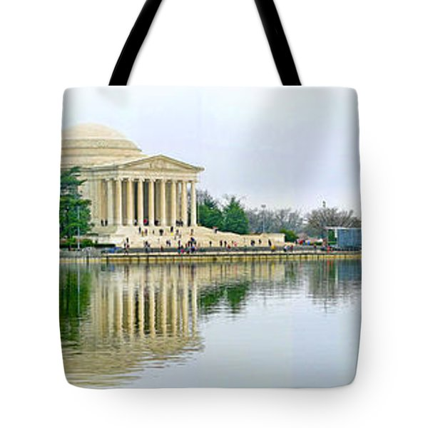 Tidal Basin With Cherry Blossoms Tote Bag by Jack Schultz