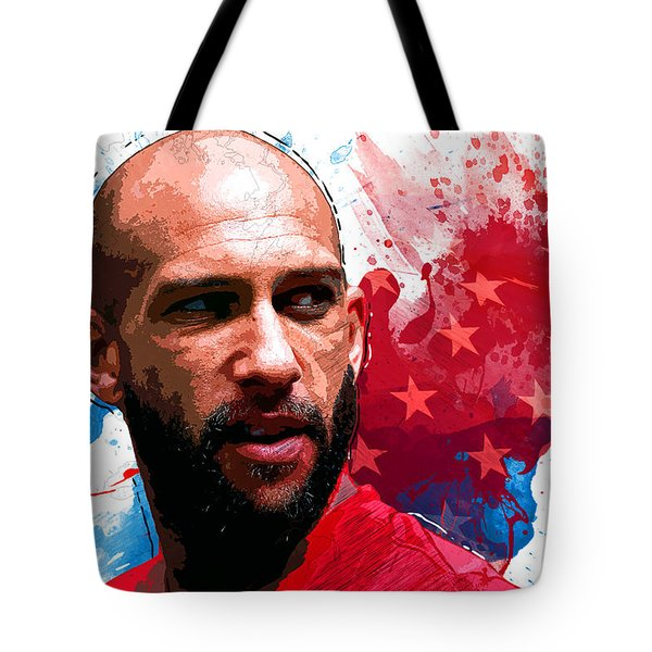 Tim Howard Tote Bag by Semih Yurdabak
