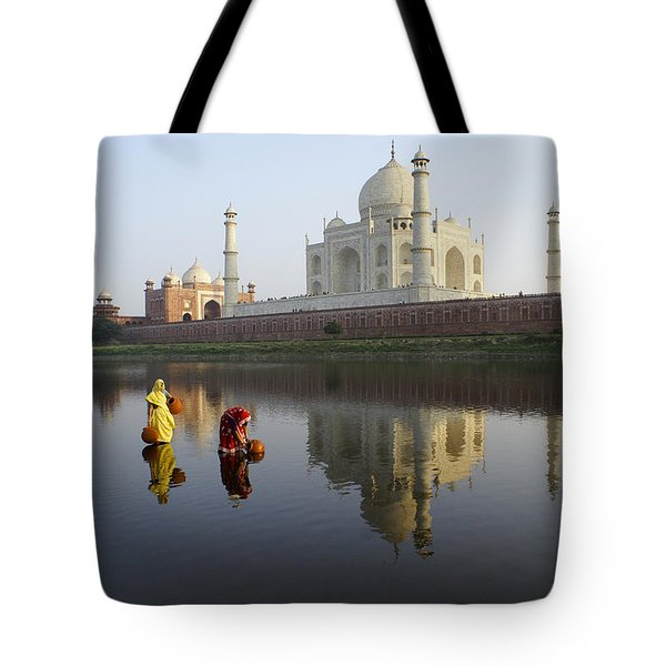 Timeless Taj Mahal Tote Bag by Michele Burgess