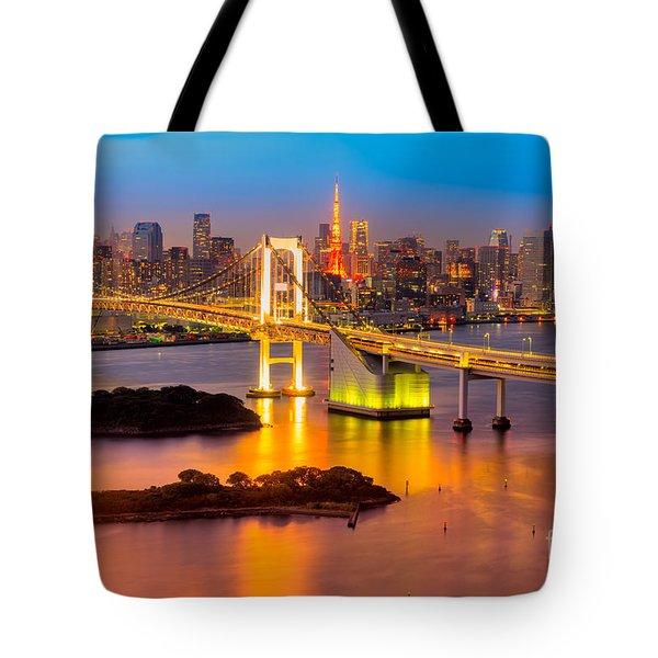 Tokyo - Japan Tote Bag by Luciano Mortula