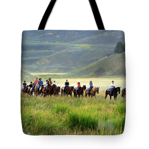 Trail Ride Tote Bag by Marty Koch