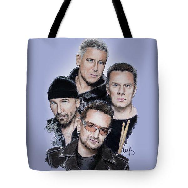 U2 Tote Bag by Melanie D