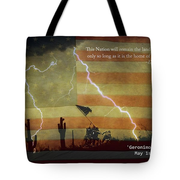 Usa Patriotic Operation Geronimo-e Kia Tote Bag by James BO  Insogna
