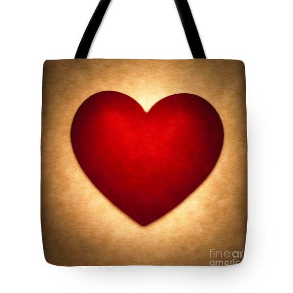 Valentine Heart Tote Bag by Tony Cordoza