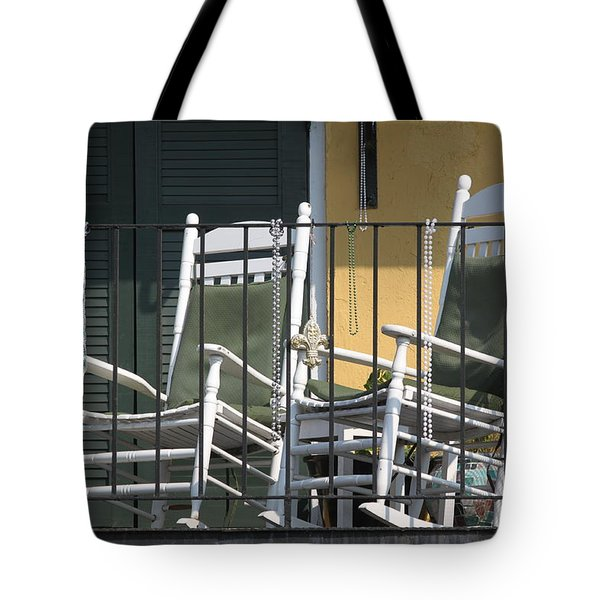 Waiting For Mardi Gras Tote Bag by Lauri Novak