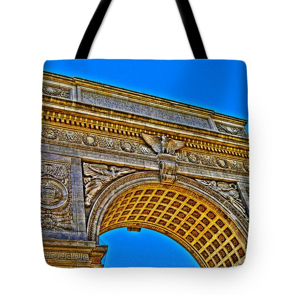 Washington Square Arch Tote Bag by Randy Aveille