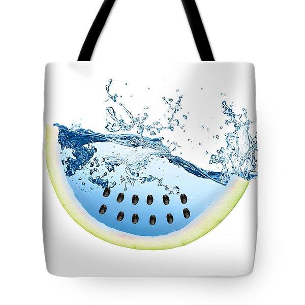 Watermelon Splash Tote Bag by Marvin Blaine