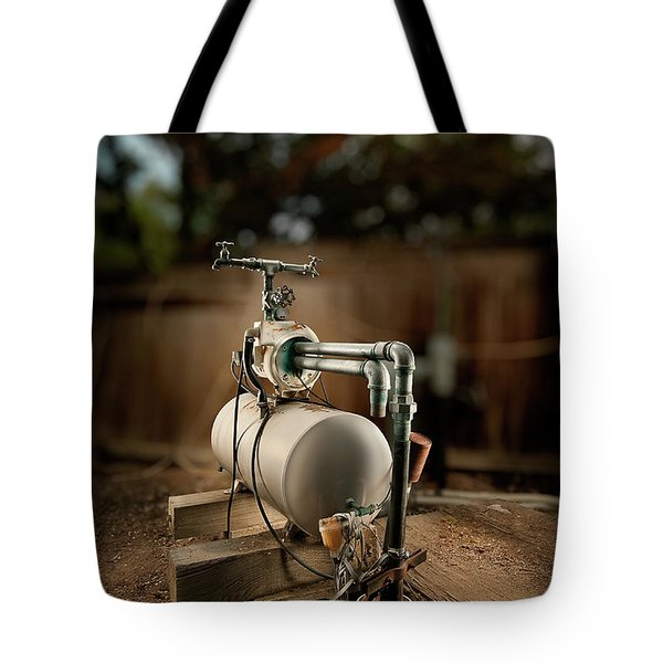 Well Pump Tote Bag by Yo Pedro