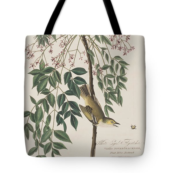 White-eyed Flycatcher Tote Bag by John James Audubon