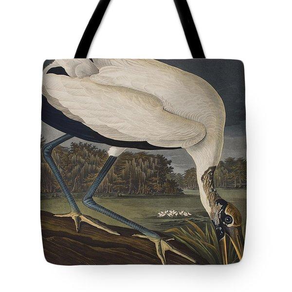 Wood Ibis Tote Bag by John James Audubon