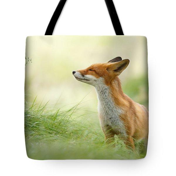 Zen Fox Series - Zen Fox Tote Bag by Roeselien Raimond