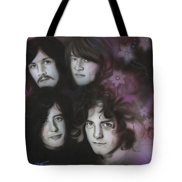 Led Zeppelin - ' Zeppelin ' Tote Bag by Christian Chapman Art