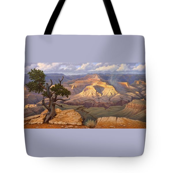 Zoroaster Temple From Yaki Point Tote Bag by Paul Krapf