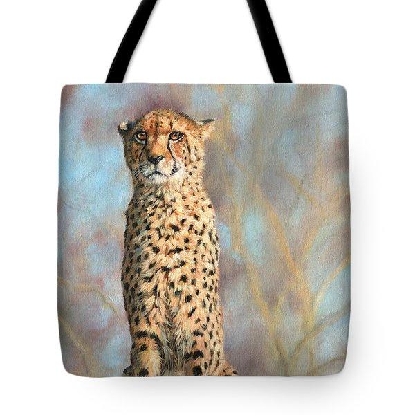 Cheetah Tote Bag by David Stribbling