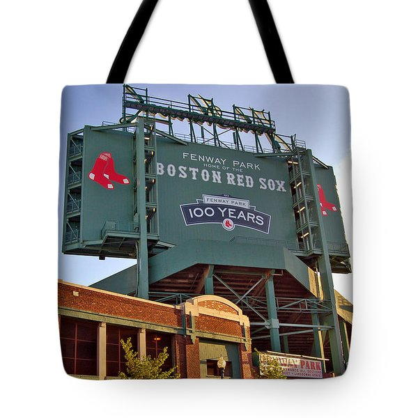 100 Years at Fenway Tote Bag by Joann Vitali
