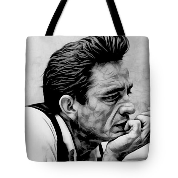 Johnny Cash Collection Tote Bag by Marvin Blaine