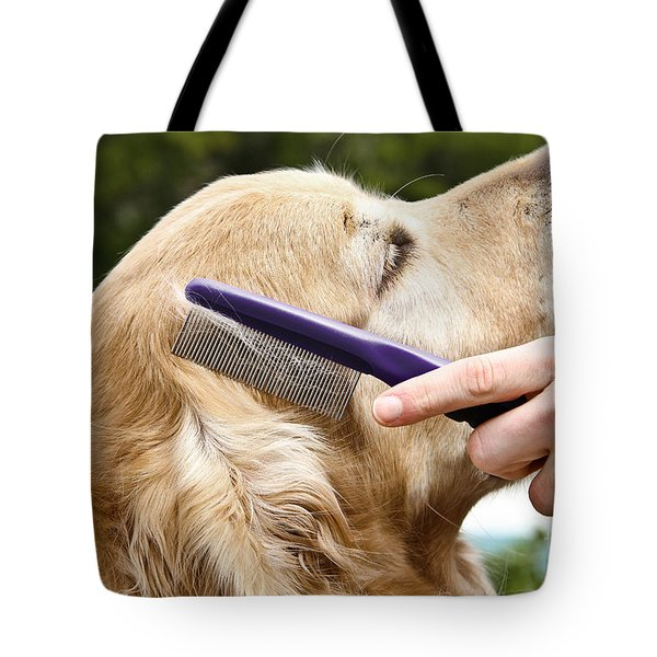 Dog Grooming Tote Bag by Photo Researchers Inc