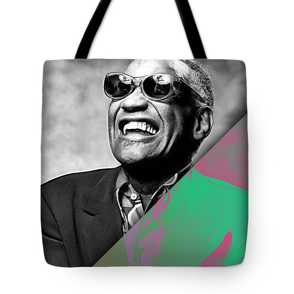 Ray Charles Collection Tote Bag by Marvin Blaine