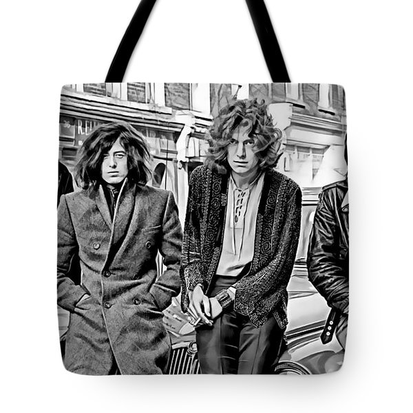 Led Zeppelin Collection Tote Bag by Marvin Blaine