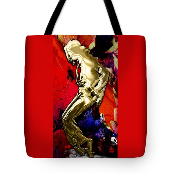 Michael Jackson Collection Tote Bag by Marvin Blaine