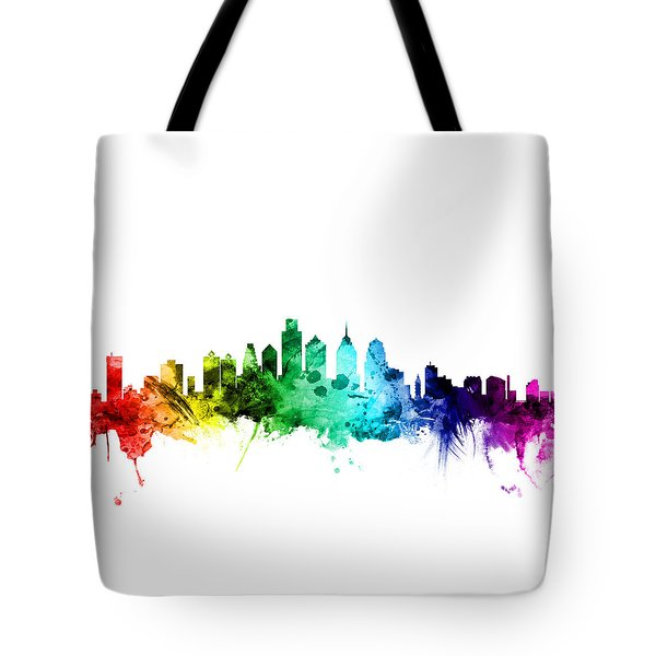 Philadelphia Pennsylvania Skyline Tote Bag by Michael Tompsett
