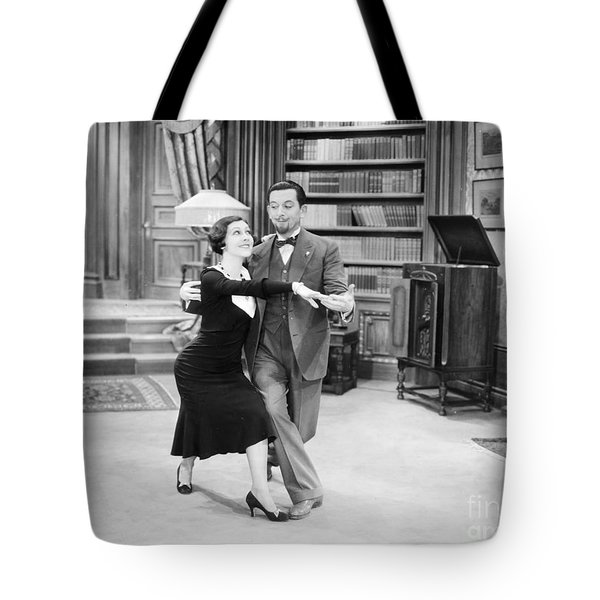 Silent Film Still: Dancing Tote Bag by Granger
