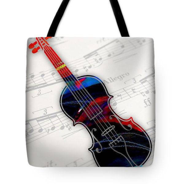Violin Collection Tote Bag by Marvin Blaine