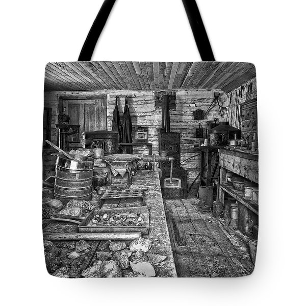 1860's ORE ASSAY OFFICE SHOP - MONTANA Tote Bag by Daniel Hagerman