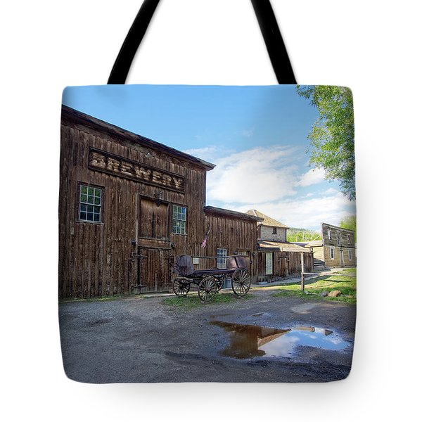 1863 H. S. Gilbert Brewery - Virginia City Ghost Town Tote Bag by Daniel Hagerman