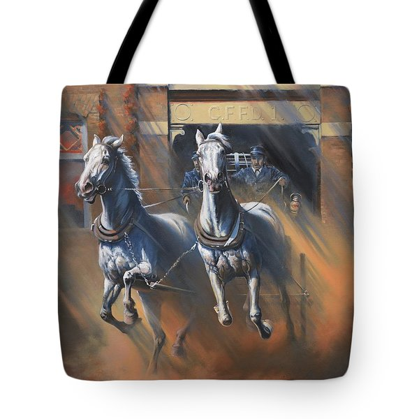 1890's First Responders Tote Bag by Mia DeLode