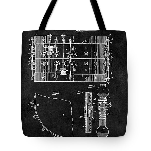 1900 Orchestra Drum Patent Tote Bag by Dan Sproul
