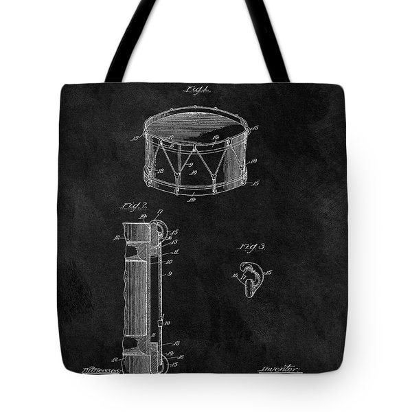 1905 Drum Patent Illustration Tote Bag by Dan Sproul