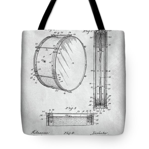 1908 Drum Patent Illustration Tote Bag by Dan Sproul