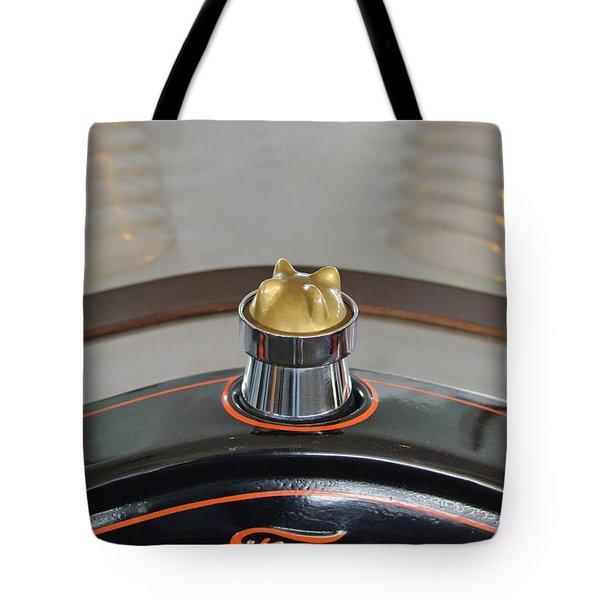 1924 Ford Model T Roadster Hood Ornament Tote Bag by Jill Reger