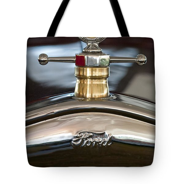 1927 Ford T Roadster Hood Ornament Tote Bag by Jill Reger
