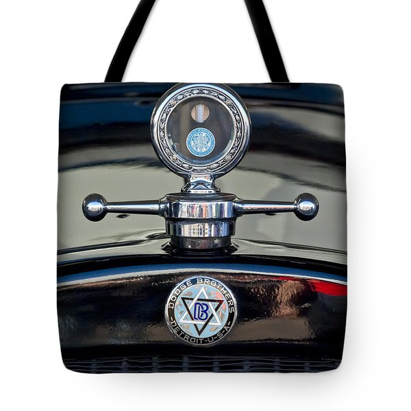 1928 Dodge Brothers Hood Ornament Tote Bag by Jill Reger