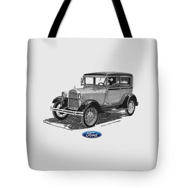1928 Model A Ford 2 dr Sedan Tote Bag by Jack Pumphrey