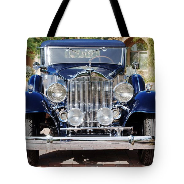 1933 Packard 12 Convertible Coupe Tote Bag by Jill Reger