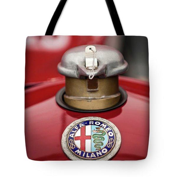 1934 Alfa Romeo Tipo B Hood Emblem Tote Bag by Jill Reger