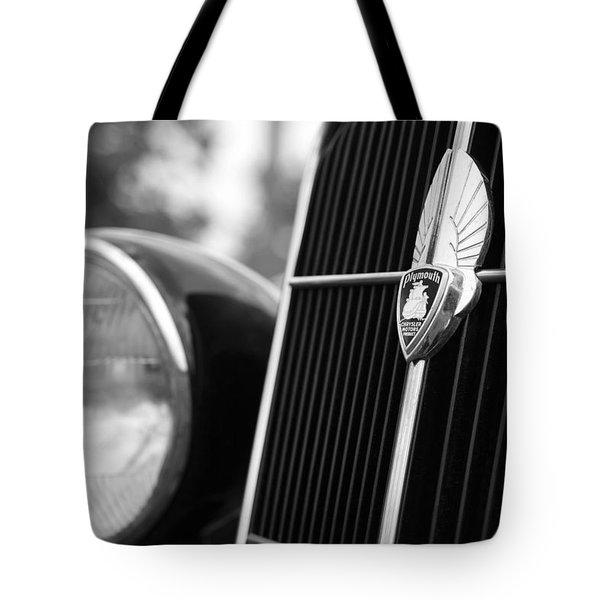 1935 Plymouth Emblem - Chrysler Motors Product Tote Bag by Gordon Dean II