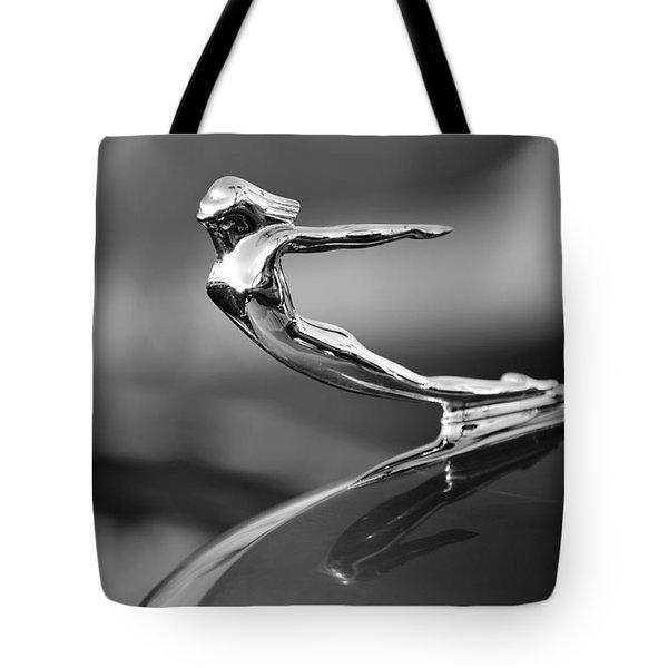 1936 Cadillac Hood Ornament 3 Tote Bag by Jill Reger