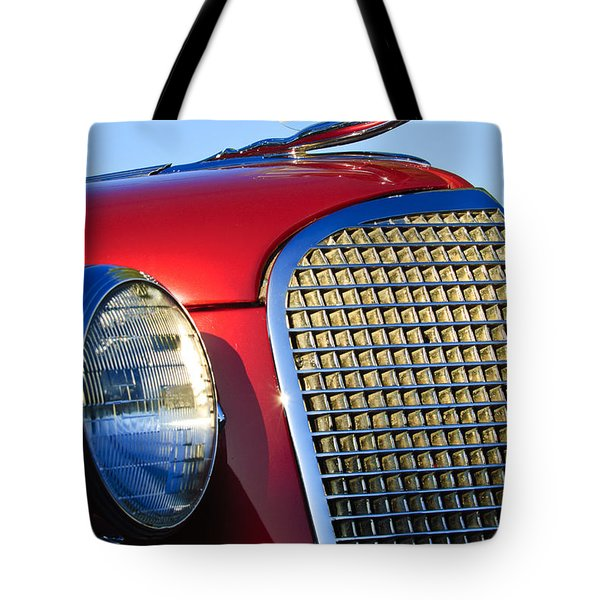 1937 Cadillac V8 Hood Ornament 2 Tote Bag by Jill Reger
