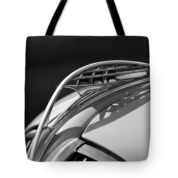 1937 Plymouth Hood Ornament 3 Tote Bag by Jill Reger