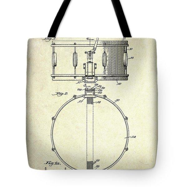 1939 Slingerland Snare Drum Patent S1 Tote Bag by Gary Bodnar