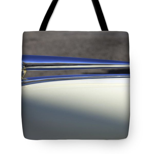 1941 Lincoln Continental Cabriolet V12 Hood Ornament Tote Bag by Jill Reger