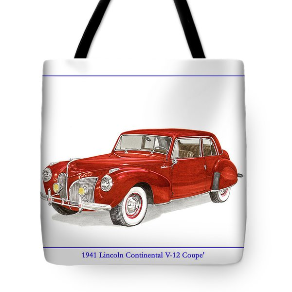 1941 Mk I Lincoln Continental Tote Bag by Jack Pumphrey