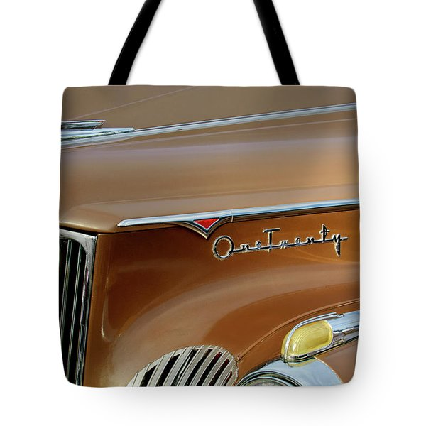 1941 Packard Hood Ornament 2  Tote Bag by Jill Reger