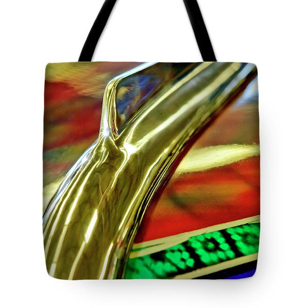 1941 Willys Chopped Gasser Pickup Hood Ornament Tote Bag by Jill Reger