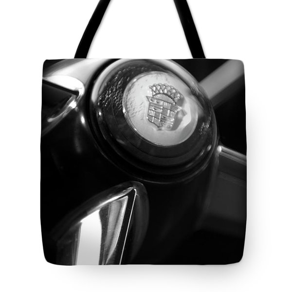 1947 Cadillac Steering Wheel Tote Bag by Jill Reger