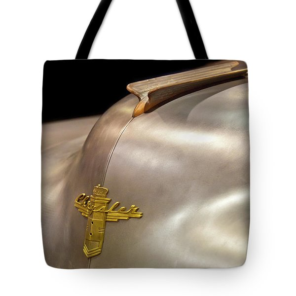 1947 Chrysler Hood Ornament Tote Bag by Jill Reger